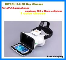 """2016 New RITECH Google Cardboard Smartphone Virtual Reality 3D Glasses Headset For 3.5""""-6.0"""" Screen Augmented Reality VR Box"""