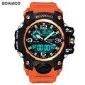 Мужские спортивные часы BOAMIGO F502 с хронографом, водонепроницаемые цифровые наручные часы, военные СВЕТОДИОДНЫЕ аналоговые Мужские часы с ре...