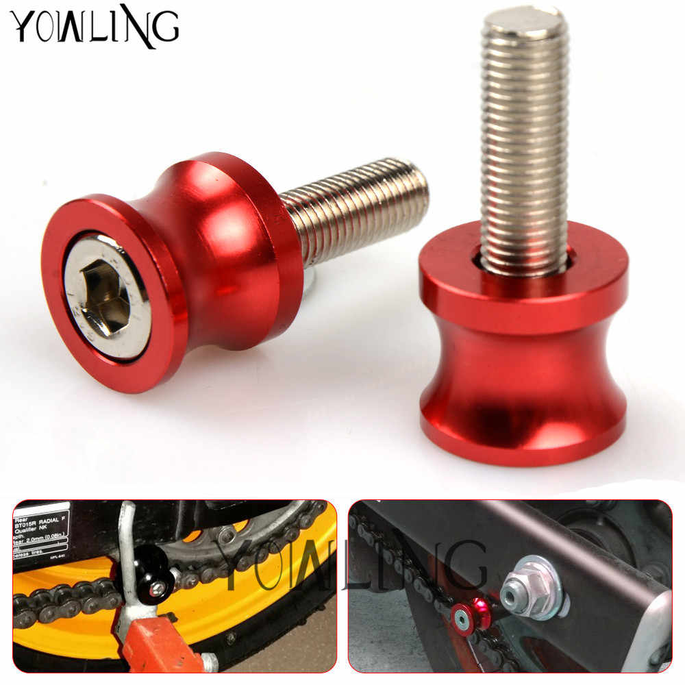 Color : 6MM Black Spools For MT 125 2015 2016 2017 2018 Motorcycle Swingarm Spools Slider 6MM Swing Screw Sliders Spools Stand Arm Sliders