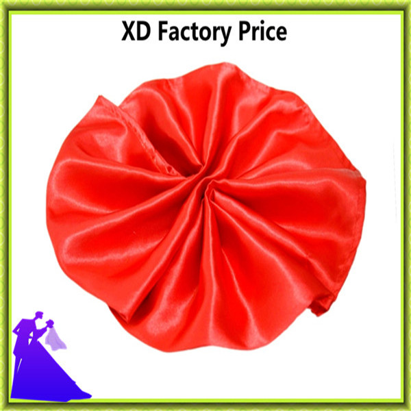 Factory price satin wedding table napkin high quality free shipping