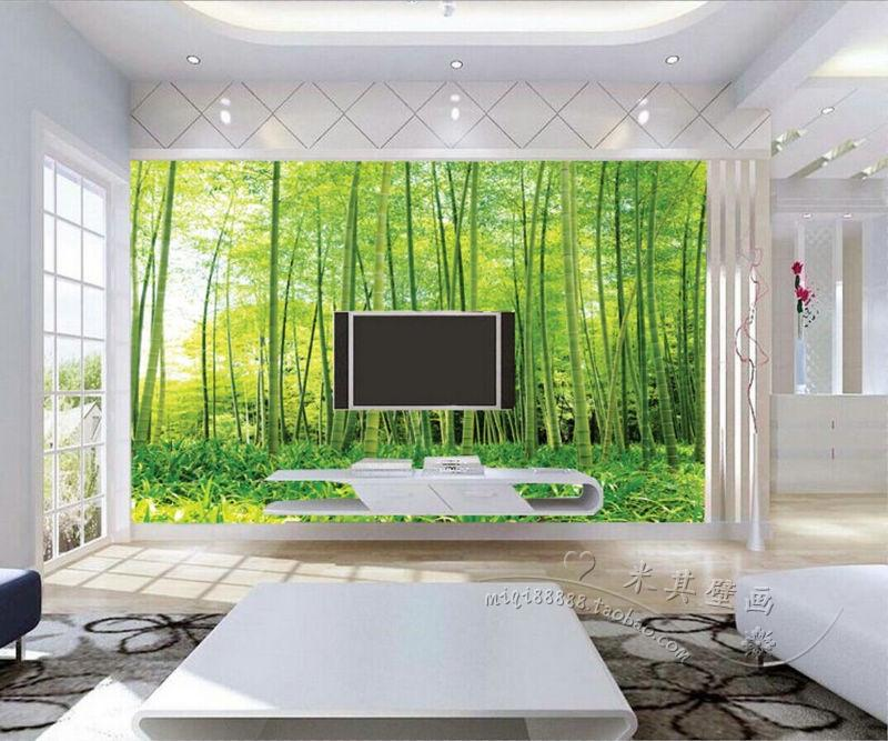 3D photo wallpaper Bamboo forest mural living room bathroom TV sofa backdrop wall murals bedroom tea house study wallpaper free shipping 3d personality wallpaper sofa tv coffee house bar backdrop living room bedroom bathrom wallpaper mural