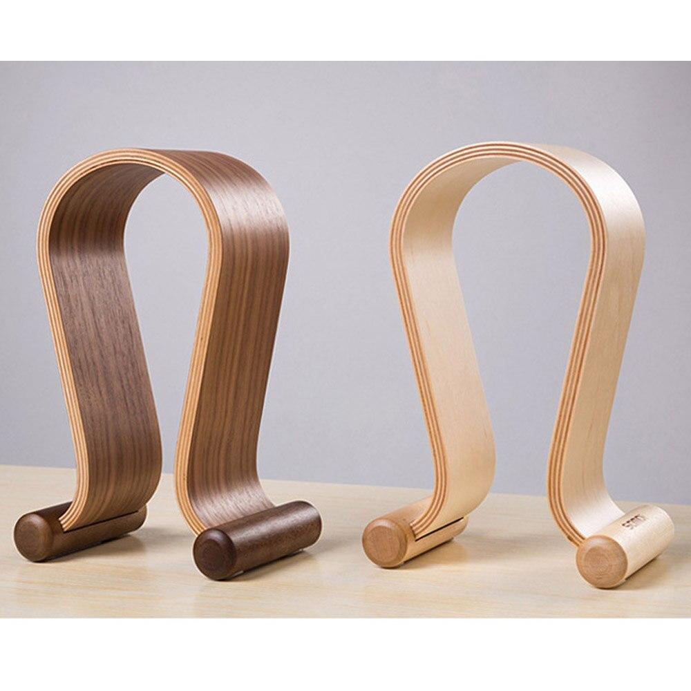 1 pièces U forme bois casque support support cintre en bois casque bureau affichage étagère Rack en bois support pour casque