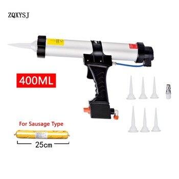 ZQXYSJ 400 ML איטום אקדח אוויר פנאומטי איטום אקדח אקדח עם בוכנות חותם חרירים דבק נקניק סיליקון אקדח בניין כלי