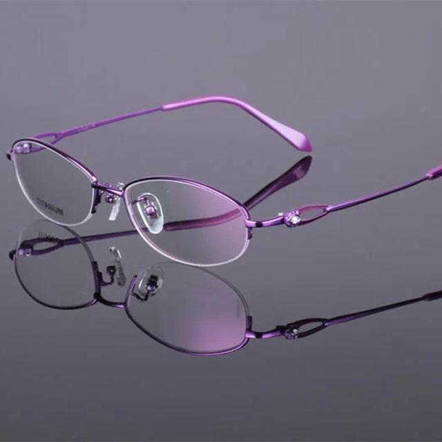 Gafas ultraligero anteojos sin montura marco de titanio puro gafas Medio marco miopía gafas de bastidor de titanio envío libre