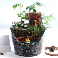 Creative Succulent Plant Pot Fleshy Flower Pot Mini Landscap Decorative Plant Container Garden Planter Flower Pot