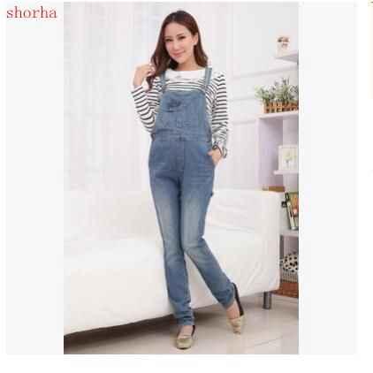 aa445a6da78 New hot Maternity Clothing Pants winter Autumn Light Blue Denim Plus Size  Overalls Pregnant Women Large