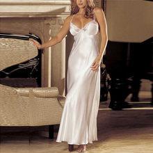 20dc0cd35 Mulheres Sexy Lingerie Camisola Plus Size Rendas Camisola gecelik Negligee  Satin Longo Nightdress Nightwear Mulheres Sleepshirts
