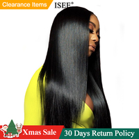 Straight Lace Front Wig With Pre Plucked Hairline Bleached Knots 150% ISEE Remy Malaysian Straight Lace Front Human Hair Wigs