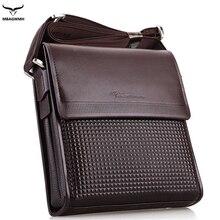 Genuine Leather Men's Bag 2016 Luxury Brand Desiger Soft Shoulder Bag Small Men Messenger Crossbody Bags Brown Briefcase Bolsas
