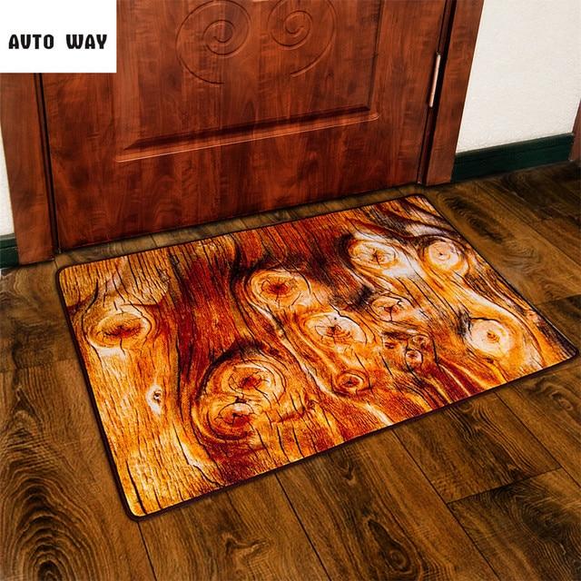 Original Simulation Wood Painting Mat Wood Grain Entrance Pad Living Room  Sofa Coffee Table Carpet Non