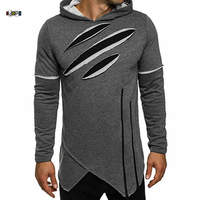 Idopy Men S Hoodies Autumn New Fashion Male Black Green Gray Street Style Sweatshirt Hip Hop