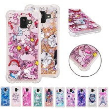LUCKBUY Soft TPU case For Samsung Galaxy A3 A5 A6 A7 A8 Plus A310 A320 A520 A510 A720 Unicorn Owl Liquid Glitter Quicksand Case