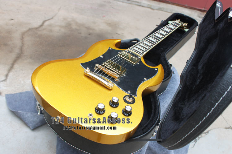 best price golden top sg model silver hardware electric guitar free shipping in electric guitar. Black Bedroom Furniture Sets. Home Design Ideas