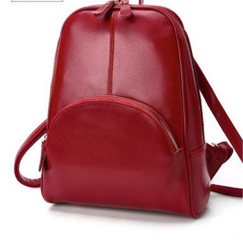 Women Bags 2017 New Genuine Leather Travel Backpack Cow Leather Casual Multicolor Candy Color Student Shoulder Bags 2017 genuine leather vintage travel backpack cow leather brush color women bags cow leather backpack top handle bags