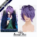 IB Garry Short Curly Purple Mixed Anime Halloween Party Men Cosplay Wig Heat Resistant High temperature free shipping