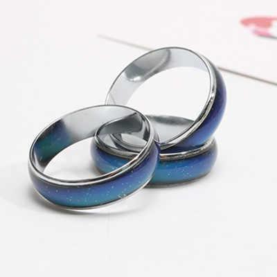 คลาสสิกสีเปลี่ยนอุณหภูมิอารมณ์แหวนขายร้อนเครื่องประดับ 6mm กว้างสมาร์ทเปลี่ยนสีแหวน