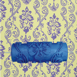 Rodillo de pintura mural decorativo de goma 3D de 5 pulgadas, patrón de pared, 025Y, Envío Gratis