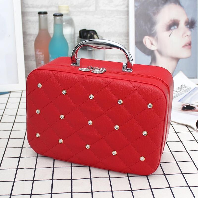 capacity the bride makeup bag portable professional cosmetics receive a box of desktop receive bin small cosmetics case