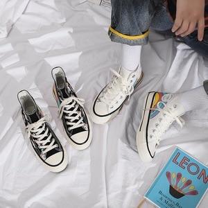 Image 5 - SWYIVY 女性のキャンバスシューズ 2019 秋の学生ハイトップスニーカーユニコーンかわいい漫画の靴女性スニーカープラットフォーム虹