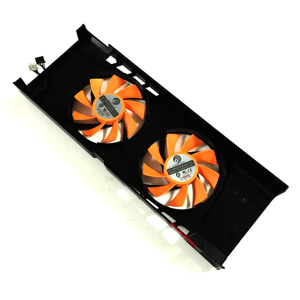 PLA08015B12HH 12V 0.35A GPU cooler graphics card cooling fan for MAXSUN GTX580 VGA Video Card Cooling 75mm pld08010s12hh graphics video card cooling fan 12v 0 35a twin for frozr ii 2 msi r6790 n560gtx r6850 n460gtx dual cooler fan