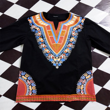 African Dresses Dashiki Dresses For 2017 Hot Polyester Men Selling New Style Printed Men's Cotton T-shirt National Wind