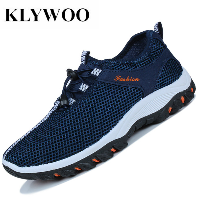 KLYWOO Spring Summer Mesh Casual Shoes Men Brand Ventilation Mens Fashion Sneakers Light Tourism Men Shoes Loafers Breathable mvp boy brand 2018 new summer mesh air mesh men breathable loafers black shoes spring lightweight fashion men casual shoes