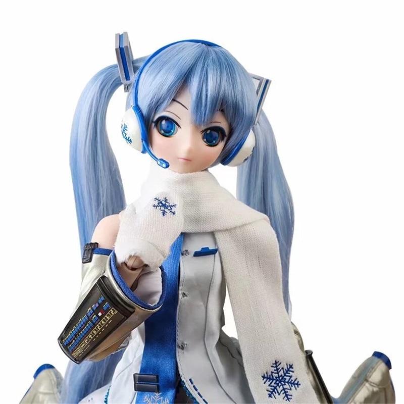 New Commoner Anime Hatsune Miku Action Figure Snow Miku Model Toy SD Doll Puppet 61CM