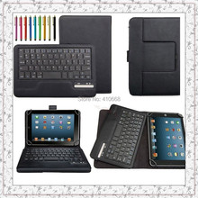 Universal 7-8 INCH Tablet Removable Bluetooth Keyboard Case For Acer Iconia W3-810 A1-810 7.9'' For Dell Venue 8/Venue 8 Pro+Pen
