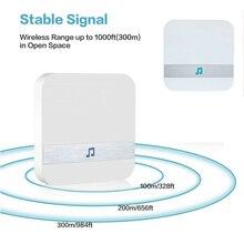 Inteligentny bezprzewodowy WiFi 110dB dzwonek do drzwi odbiornik Ding Dong wizjer wbudowaną kamerą Wi Fi niskie zużycie energii drzwi do domu