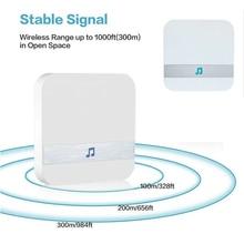 Smart Wireless WiFi 110dB Doorbell Chime Receiver Ding Dong Wifi Doorbell Camera Low Power Consumption Home Door
