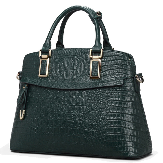 Classic Croc Women Bag Big Brand  Luxury 2016 Women Messenger Handbags 100% Genuine Leather Elegant Female Bag 52ZD