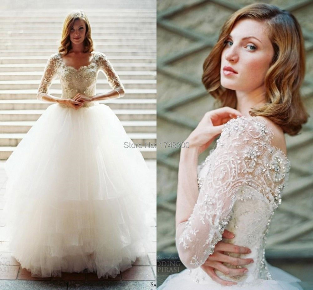 Wedding Discount Bridal Gowns online get cheap runway wedding gowns aliexpress com alibaba group whole crystal half sleeve sheer tulle dress romantic sexy pure gown back see