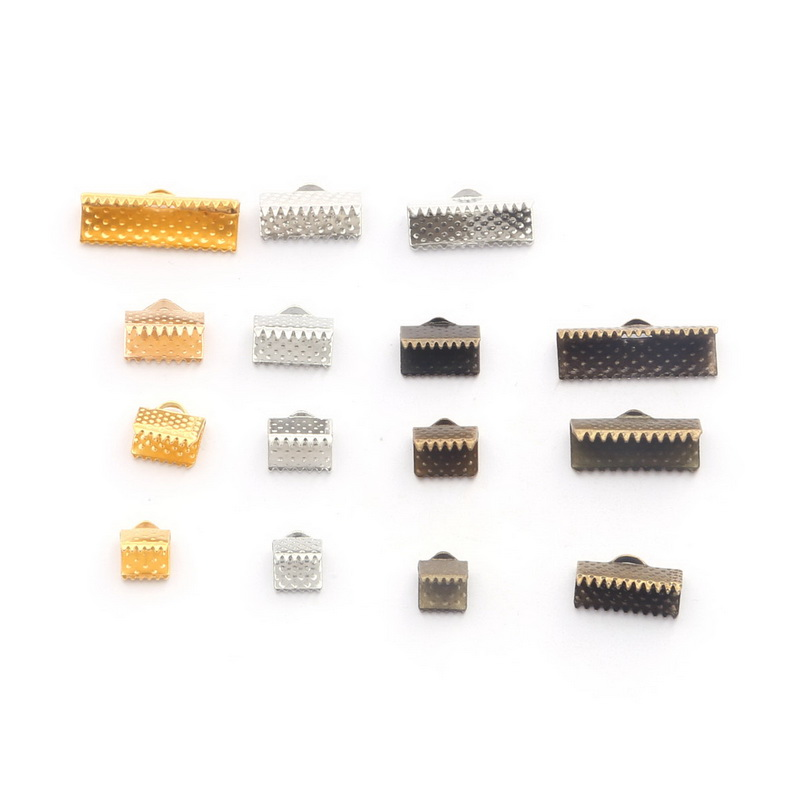 50 Piece Textured End Caps Crimp Beads Findings Jewelry Making 8-10mm Art & Craft Supplies
