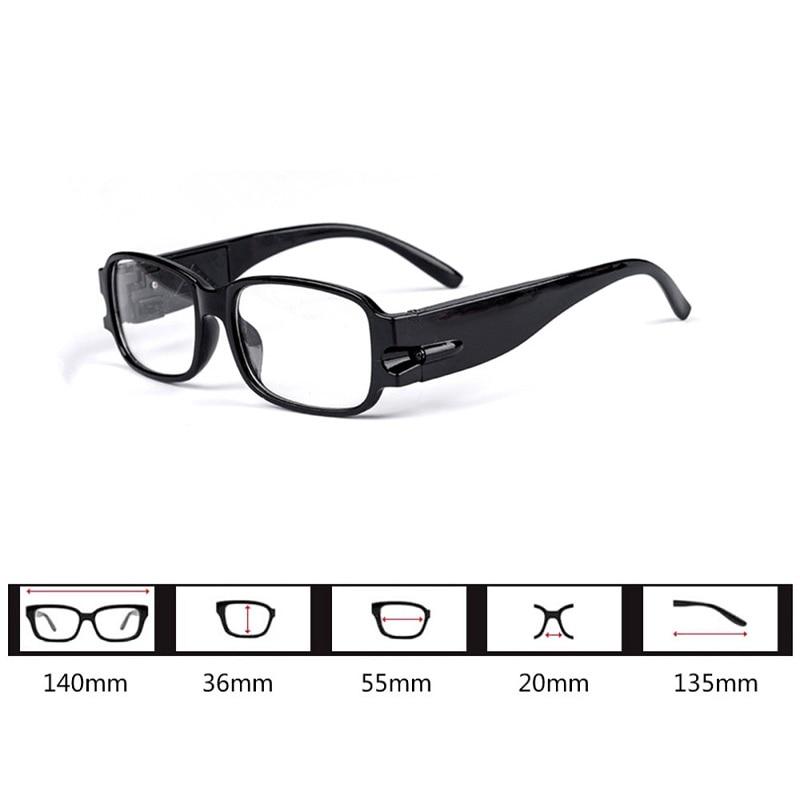08980e6aaf LED gafas de lectura con iluminación ajustable magnética de la protección  de la salud perezoso gafas de presbicia lesebrille dioptrías en Gafas de  lectura ...