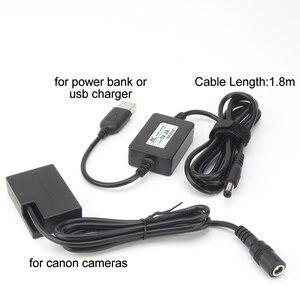 Image 4 - Адаптер питания для Canon EOS 750D, 760D, 77D, 800D, 200D, Rebel SL2, Kiss X8i, T6i, T6S, с USB кабелем, с зарядным устройством, с зарядкой от USB кабеля, с разъемом для зарядки в виде батареи, для Canon EOS, 760D, 760D, 77D, 77D, 800D, 800D, 800D