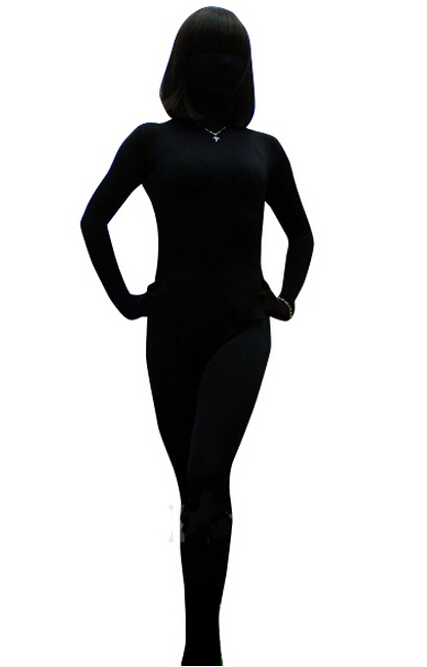 LP040060 2017 New Fashion Fetish Wear Zentai Bodysuit Women Black Lycra Spandex Sexy Suit Men