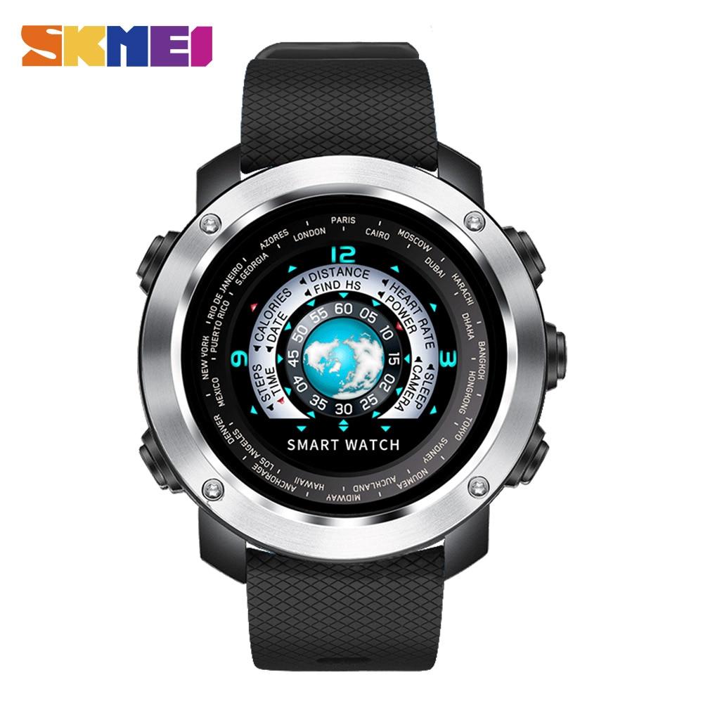 SKMEI смарт-цифровые часы HeartRate калорий дистанционного Камера Водонепроницаемый наручные Fashion часы Relogio Masculino Erkek коль Saati