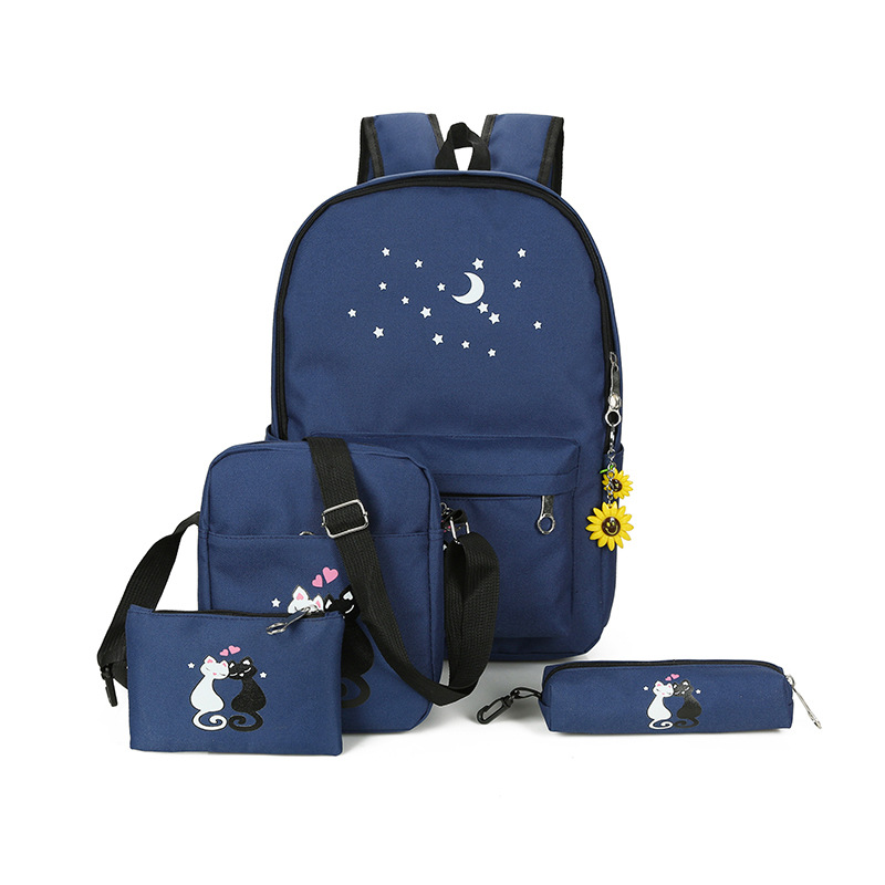 2018 the new Korean fashion cute cartoon school bags for girls Children canvas schoolbags backpack Large capacity kids backpacks