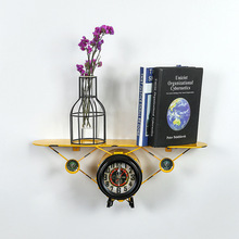 New Shelves Wrought Iron Aircraft Hanging Clocks To Create A Simple Retro and Racks Ornaments
