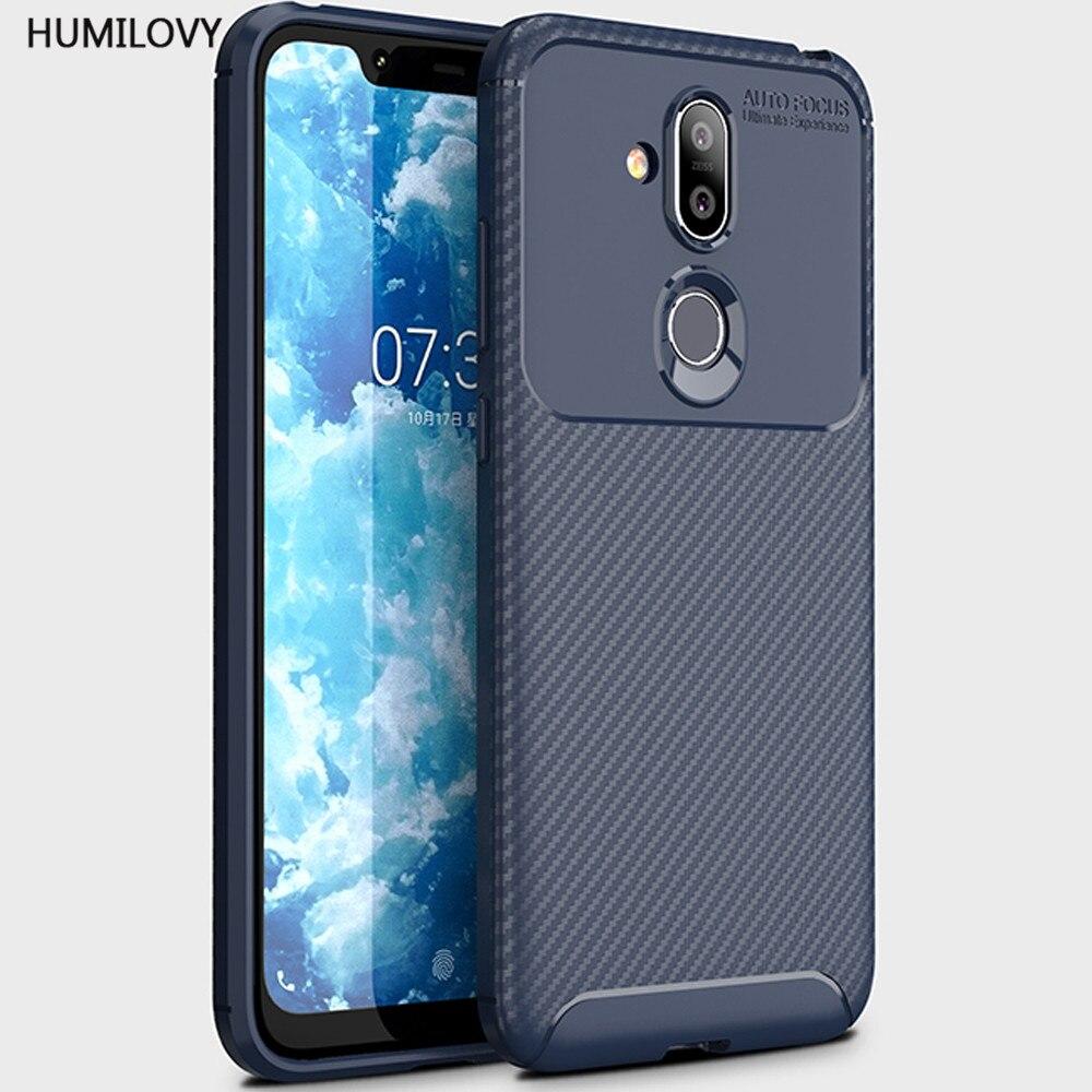For Nokia 8.1 Case for Nokia 8.1 Cover Anti-knock Fingerprint-proof TPU Soft Phone Case for Nokia 8.1 Global TA-1119 TA-1128