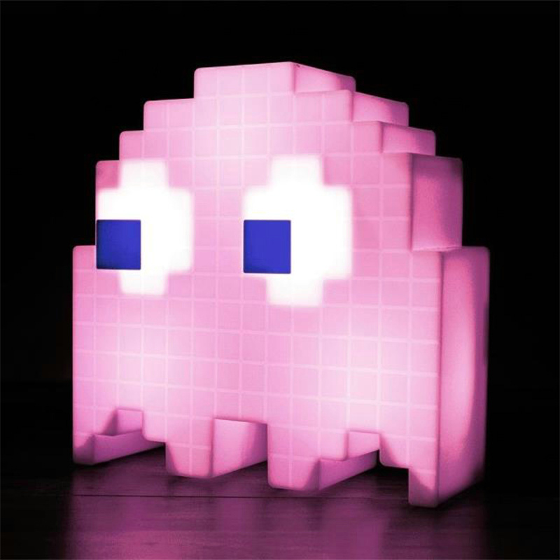 Image 2 - Color Change Cartoon luminarias dj Led glow USB Night Light 8 bit mood light Pixel pacman Child Baby Soft Lamp Bedroom Lighting-in Night Lights from Lights & Lighting