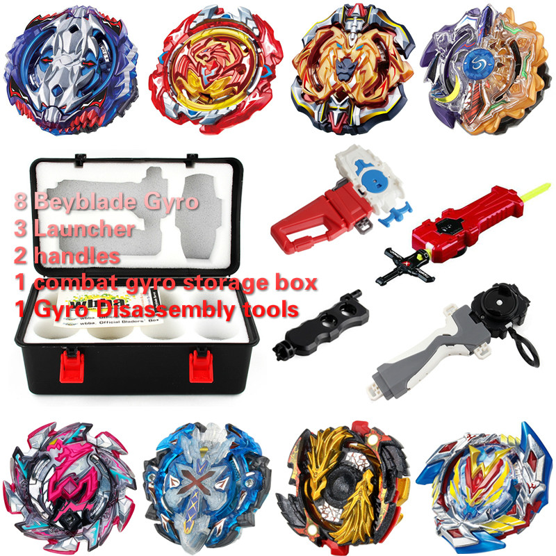 8 unids/set Arena de Metal para Beyblade Bayblade Burst Toys Arena Starter Zeno con lanzador niños para niños Bey Blade