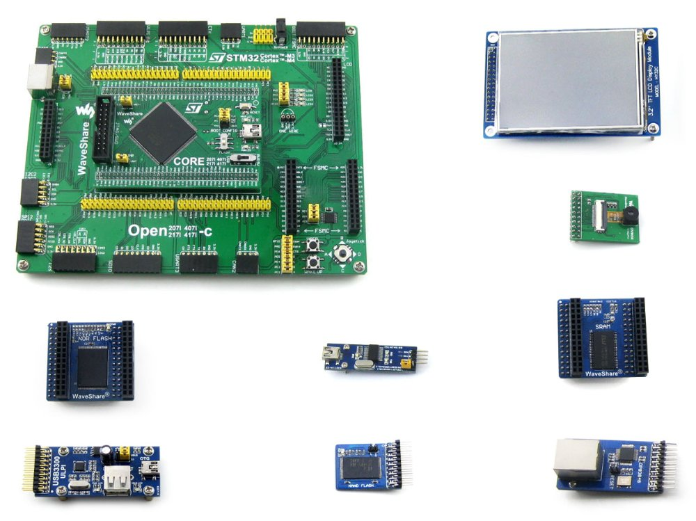 Open407I-C посылка A = STM32 доска STM32F407IGT6 ARM Cortex-M4 STM32  макетная