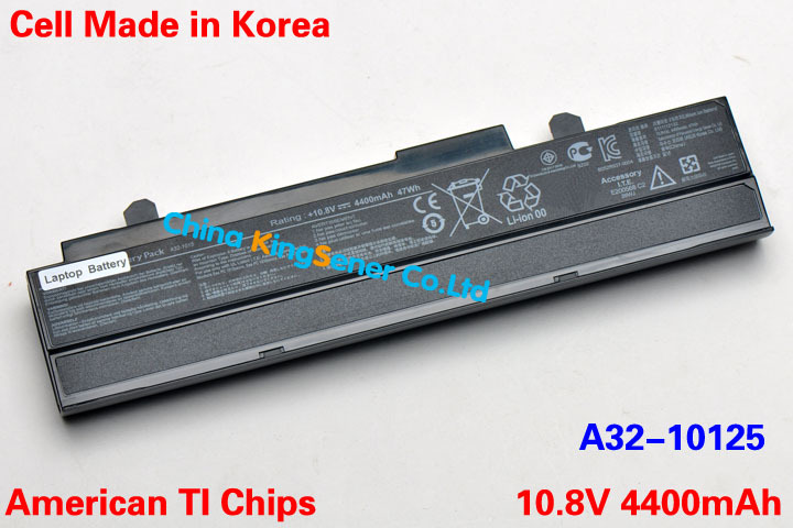 ФОТО 4400mAh Korea Cell New Laptop Battery for ASUS Eee PC 1015 1015P 1015PE 1015PW 1025 1215 1016 1016P A31-1015 A32-1015 Black