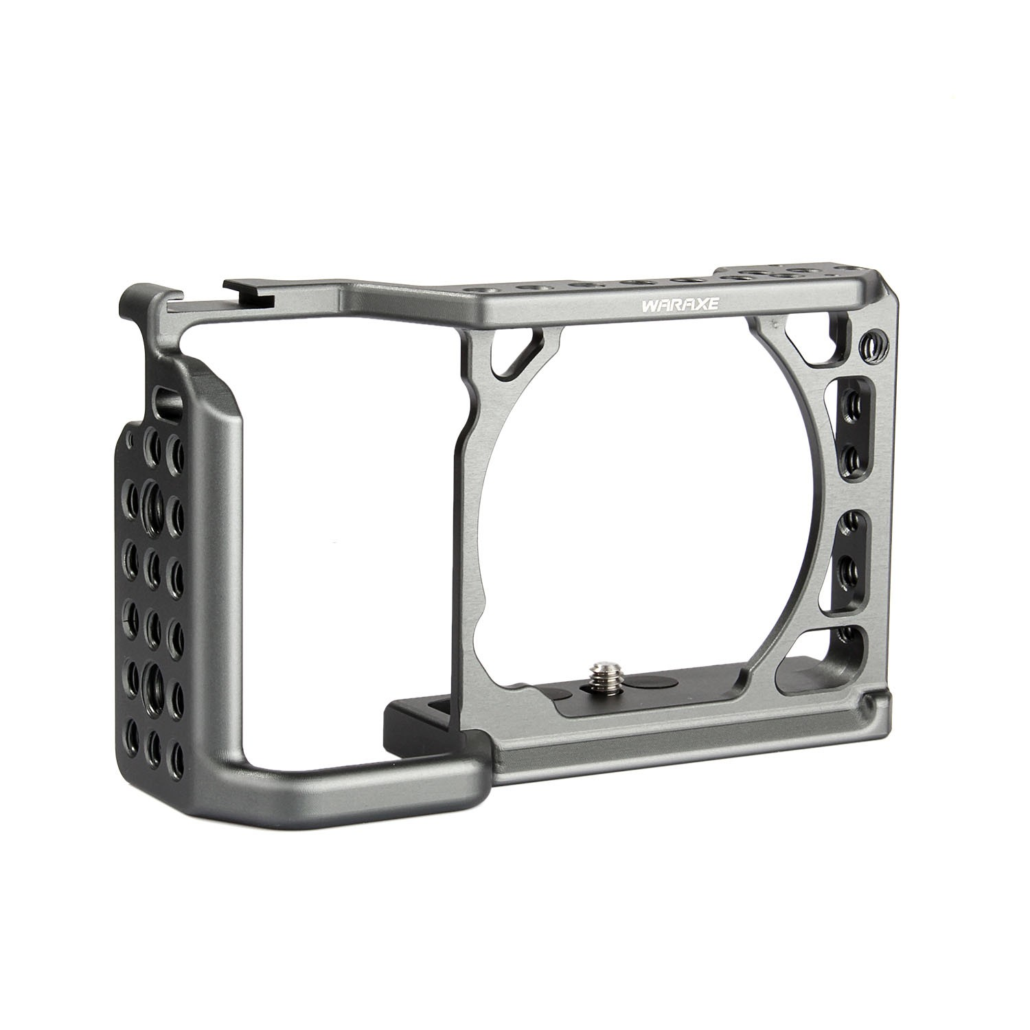 WARAXE A6 Camera Cage for Sony ILCE-6000/ILCE-6300/ILCE-A6500 with 1/4 and 3/8 Threaded Holes Cold Shoe Base sony a6500