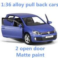 1 36 Alloy Pull Back Cars High Simulation Volkswagen Golf GTI Model 2 Open Door Metal