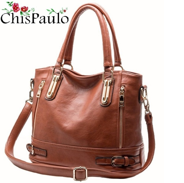 16be048cb6ee CHISPAULO 2017 Brand Designer Cow Women Genuine Leather Handbags Fashion  Women s Shoulder Bags Vintage Women Messenger
