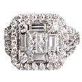 Luxuoso Princesa Nutural Nox EDI Verdadeiro Diamante 18 K Ouro Branco Anel de Casamento Do Diamante Para As Mulheres Presentes de Natal Jóias Finas