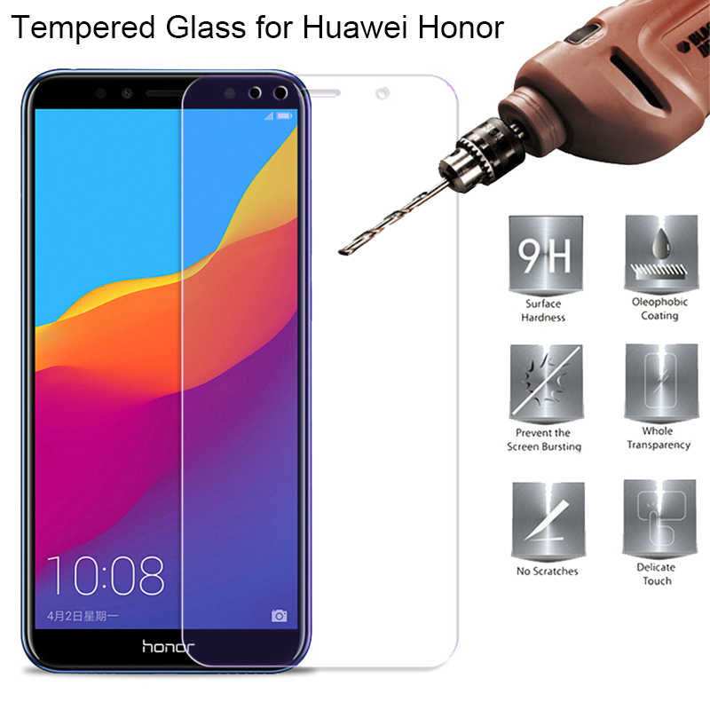 9H HD Tempered Glass for Huawei Y6 Prime 2018 Y9 Y7 Y5 Prime 2018 Screen Protector Protection Glass on Honor 7A 7C Pro 5.7 Glass