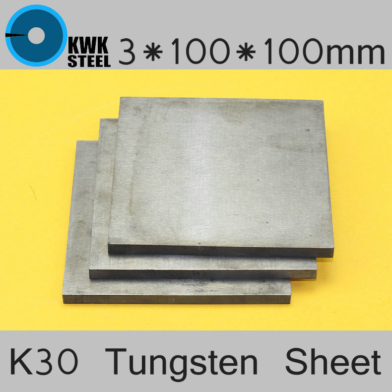 3*100*100mm Tungsten Sheet Grade ISO K30 YG8 44A K1 VC1 H10F HX G3 THR W Tungsten Plate ISO Certificated Mould Stamping Material iso certificated swordlike atractylodes rhizome extract 100g lot